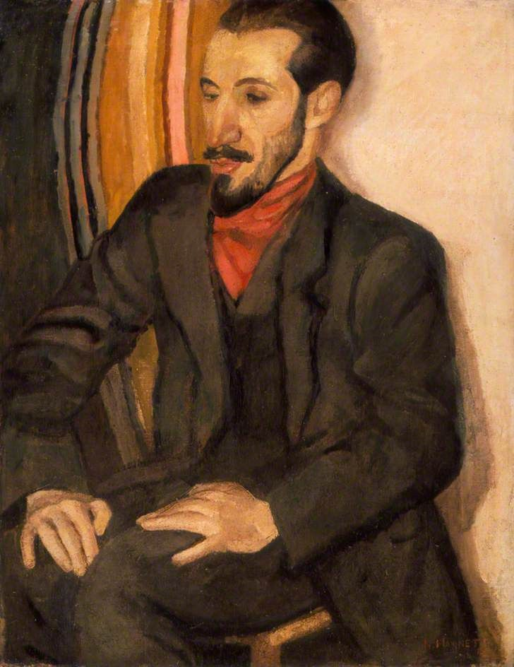 Horace Brodzky by Nina Hamnett. Southampton City Art Gallery     Date painted: 1915     Oil on canvas, 89.2 x 68.9 cm     Collection: Southampton City Art Gallery.