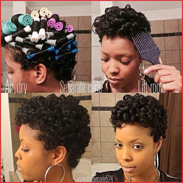 Flexi Rod Hairstyles Short Hair Inspirational Awesome Rod Hairstyles In 2020 Natural Hair Styles Short Hair Styles Short Curly Hair