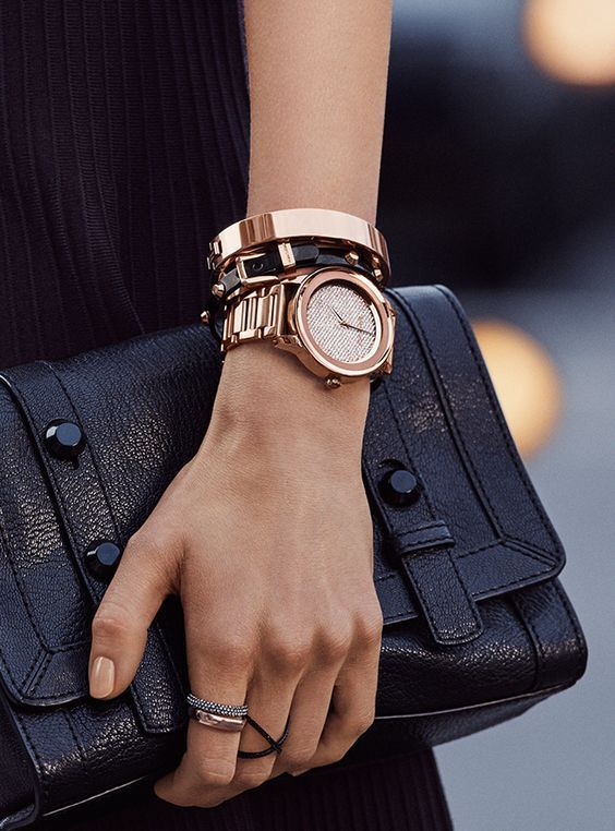 Fashion Blog Post - Rings For Women. Learn more here ----> #rings #fashion #jewelry #styletips Watch, rhinestone rings, clutch bag