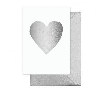 elm - Card- Heart Silver