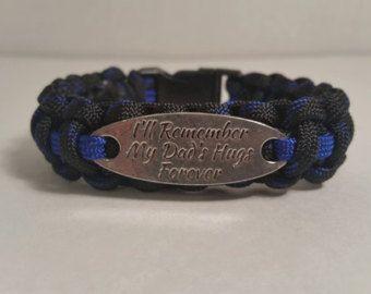 I LOVE MY HUSBAND Police Thin Blue Line Bracelet