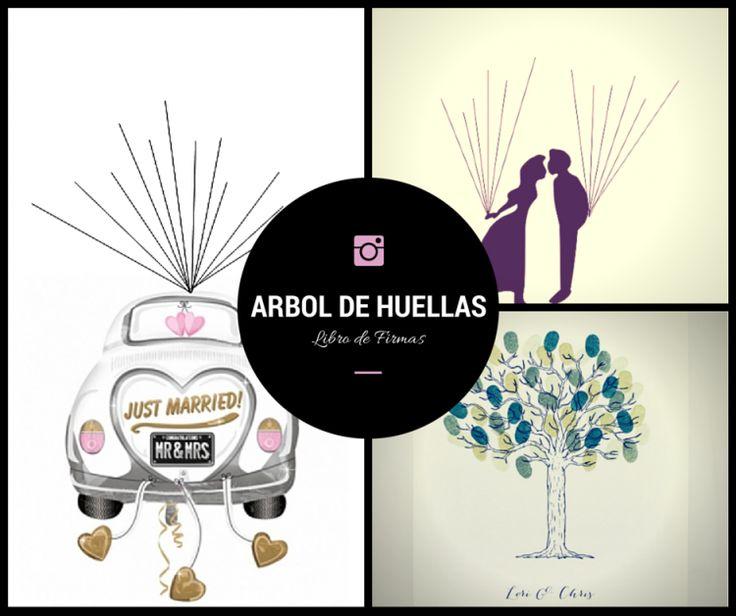 Descargate totalmente gratis estos diseños para el arbol de huellas y pon un libro de firmas diferente en tu boda! Te encantará!
