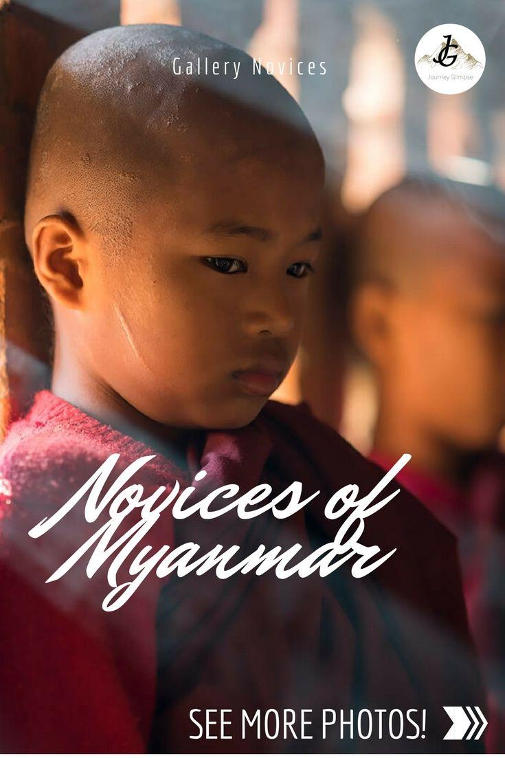 Eine unserer absoluten Lieblings-Fotogalerien. Entstanden sind die Bilder der Novizen in einem Tempel in Bagan.