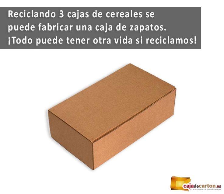 ¿Sabías que reciclando 3 cajas de cereales se puede fabricar una caja de zapatos? ¡Todo puede tener otra vida si reciclamos!