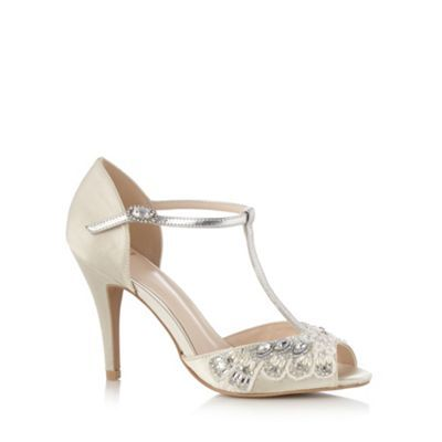No. 1 Jenny Packham Designer ivory diamanté trim high sandals- at Debenhams.com