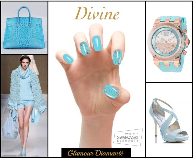 Glamour Diamanté. Instant press-on manicure encrusted With Swarovski crystals.  ***Derniers jours*** Exclusivement sur indiegogo ==> http://bit.ly/1hwPOZj ***Last Days*** Exclusively on indiegogo ==> http://bit.ly/1hwPOZj  Made With Swarovski Elements