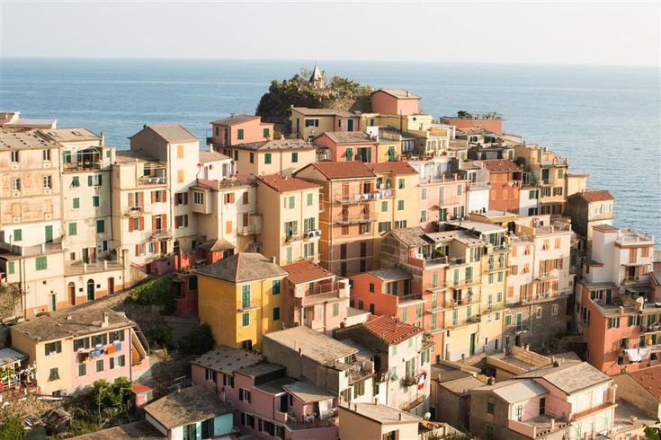 Love this photography from Ugallery. Golden Hour on Cinque Terre by Rebecca Plotnick.