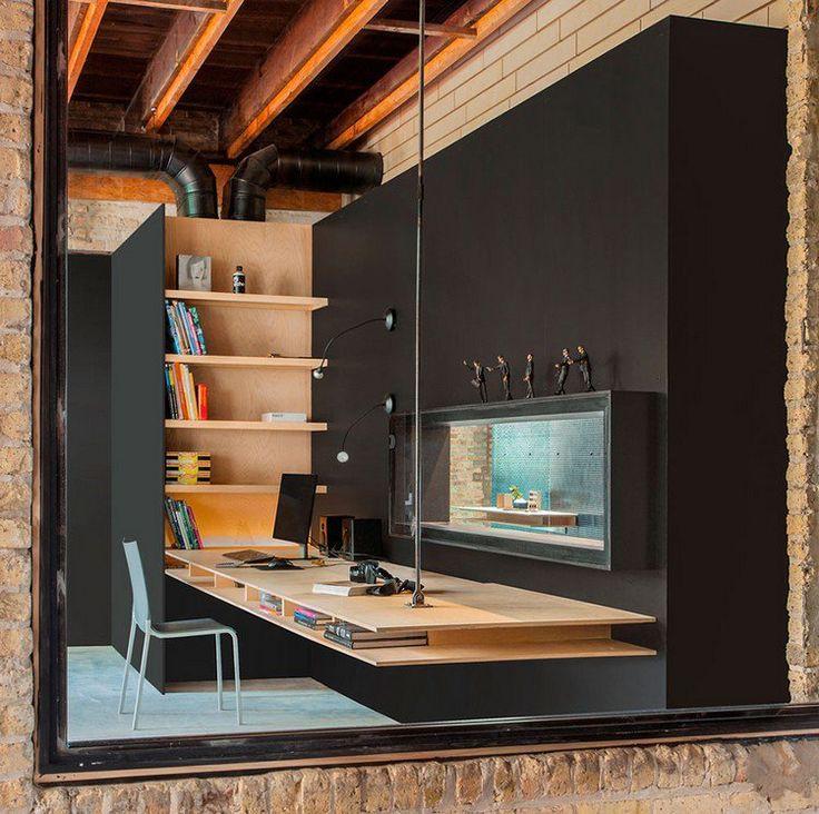 les 25 meilleures id es de la cat gorie bureau suspendu sur pinterest jambes secr taire. Black Bedroom Furniture Sets. Home Design Ideas