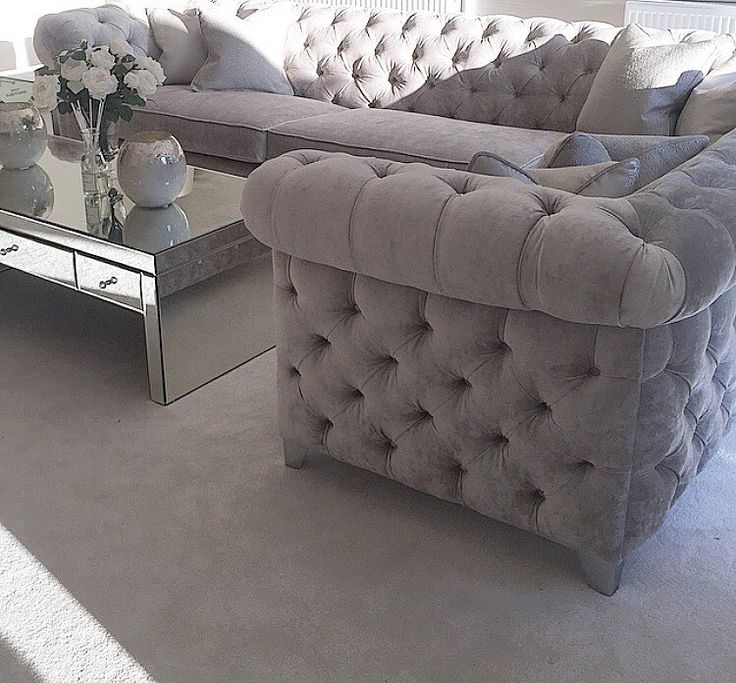 Velour Chesterfield Sofa Kardiel Tufted Earl Grey Velour Chesterfield Sofa Free Shipping Today