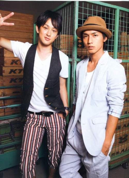 Yokoyama You and Nishikido Ryo of Kanjani8