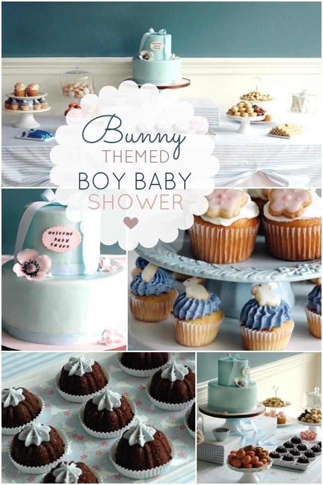 Little Bunny Boy Baby Shower Ideas Bunny Baby Shower Bunny Baby Shower Theme Baby Boy Shower