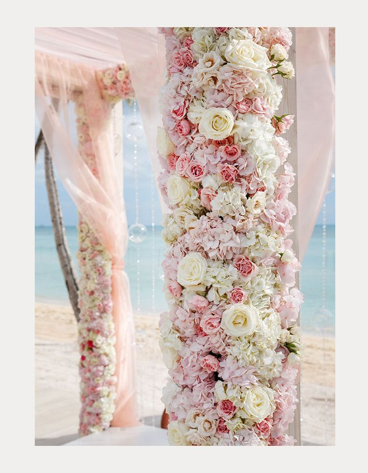 look at the gorgeous flowers on this lush floral wedding arbor! ~ we ❤ this! moncheribridals.com
