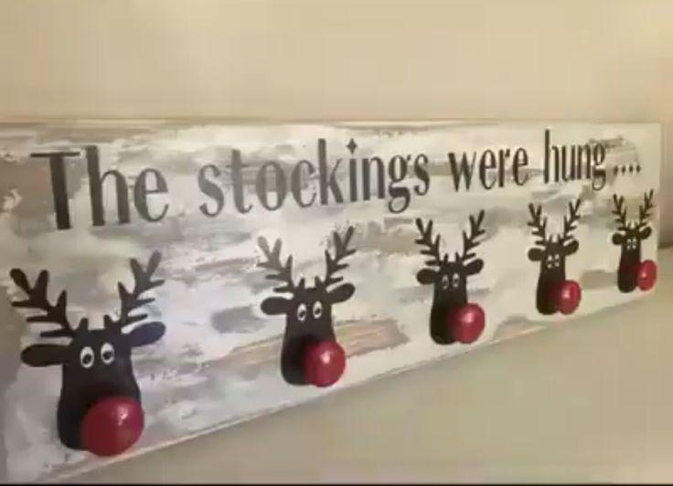 Cute stocking hanger