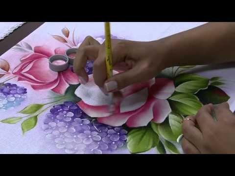 Pintando rosas e hortências | Cantinho do Video