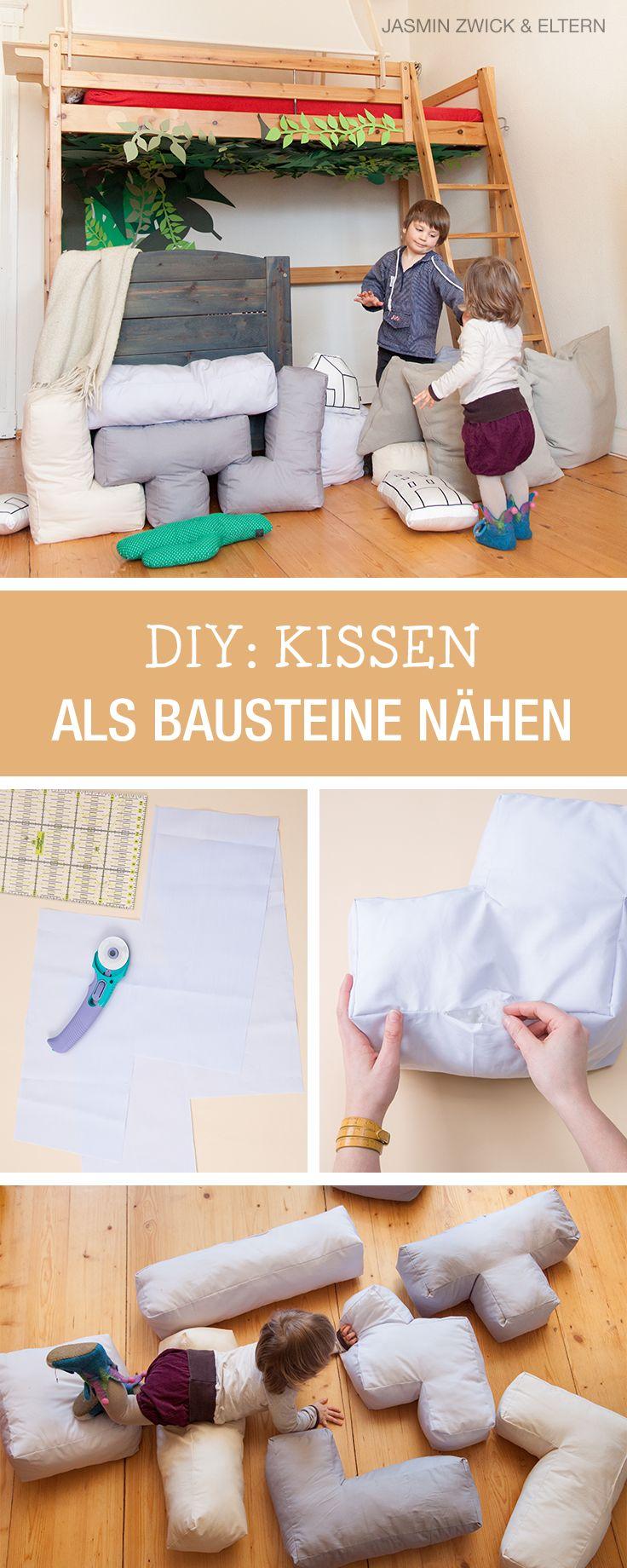 Nähanleitung für Kissen in Tetrisform, Kinderzimmer einrichten mit Eltern.de / sewing pattern for tetris style cushions via DaWanda.com
