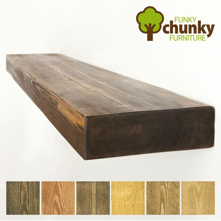 Massivholz Rustikal Wandboard Regal Landhaus Kiefer mit Regalstützen 22,5x7,5 cm