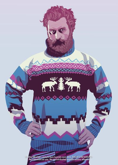 Game of Thrones (GOT) example #89: '90s Tormund - Game Of Thrones - Mike Wrobel