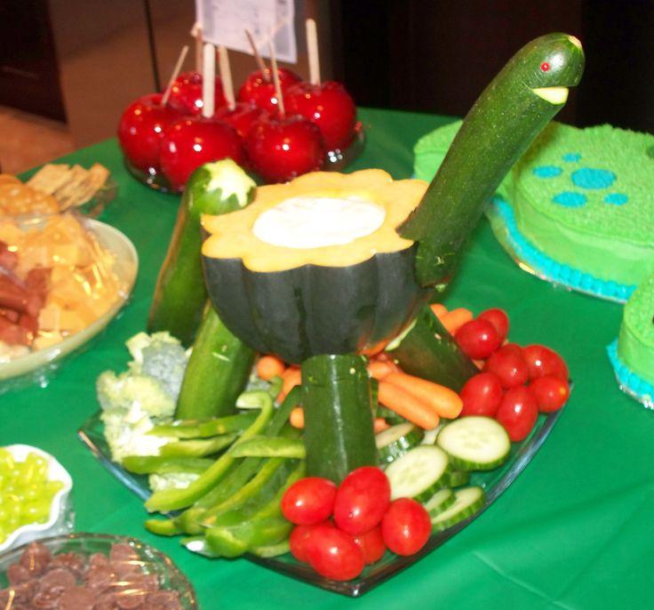 Dinosaur Veggie Tray I Made For A Dinosaur Birthday Party