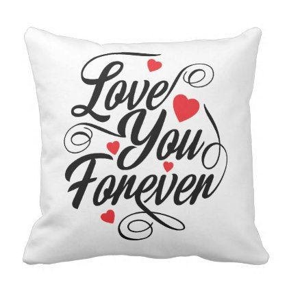Beautiful Love Heart Quote  Pillow - valentines day gifts love couple diy personalize for her for him girlfriend boyfriend
