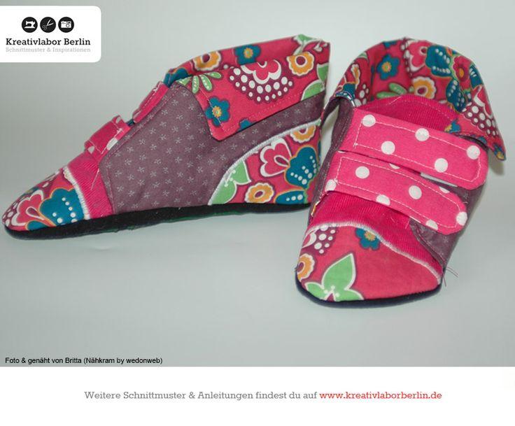 Kinderschuhe mit Klettverschluss: http://www.kreativlaborberlin.de/naehanleitungen-schnittmuster/kinderschuhe-mit-klettverschluss-groesse-20-bis-30/