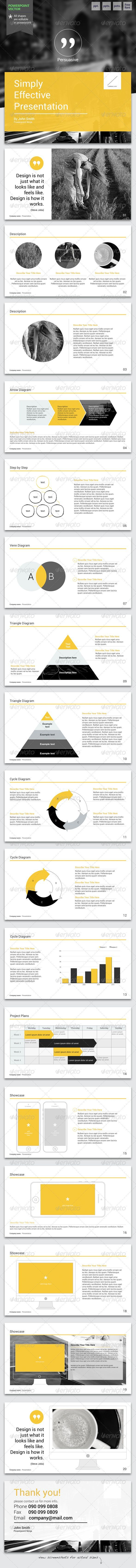Persuasive - Powerpoint Template #GraphicRiver Impress your audience with clean, modern, and professional presentation!.: