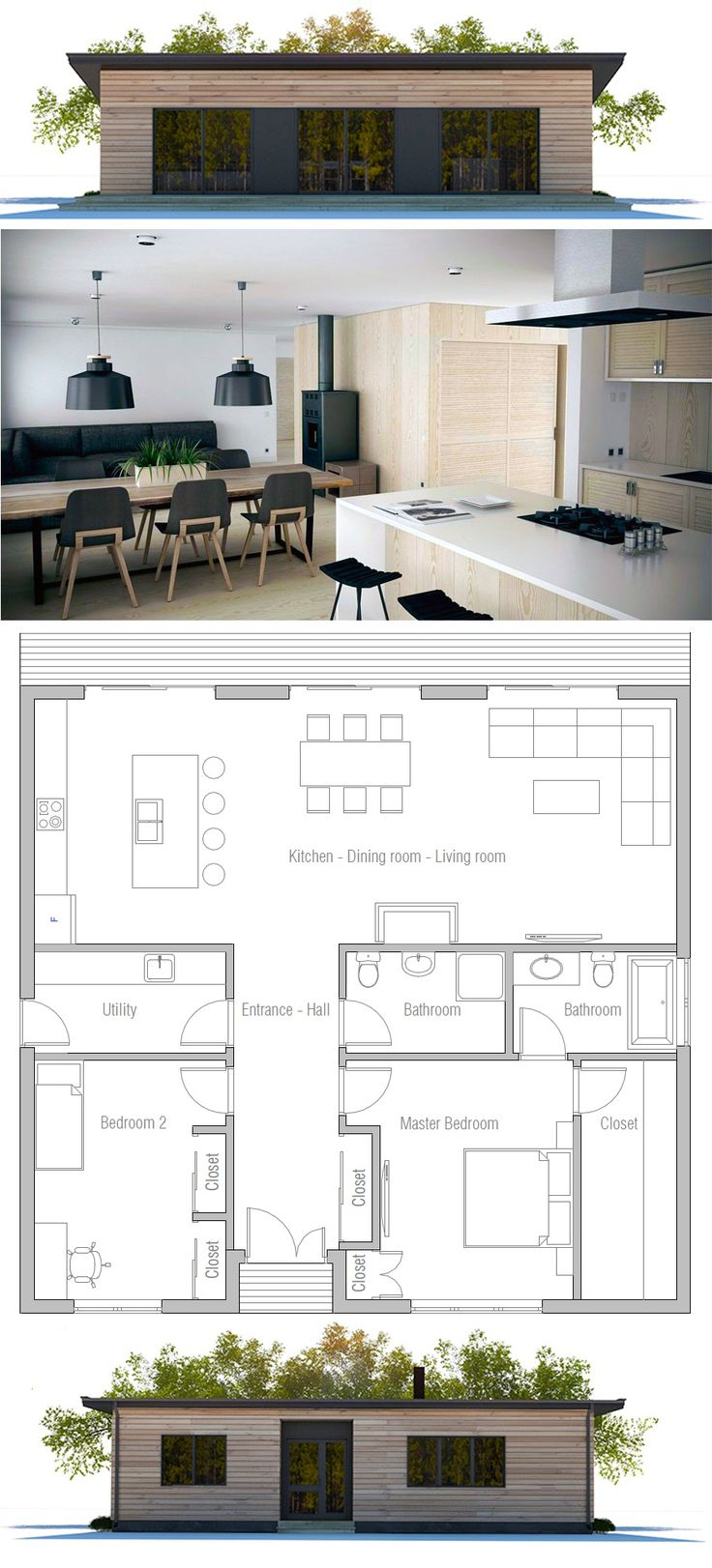 2 Bedroom House Plans: 25+ Best Ideas About 2 Bedroom House Plans On Pinterest