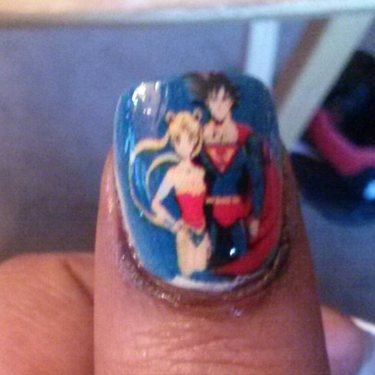 55 Best Images About Dragon Ball Z Nails & Nail Art Design