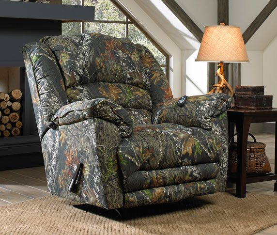 Camo Lounge Chair: Duck Dynasty Yosemite Chaise Rocker Recliner In Mossy Oak