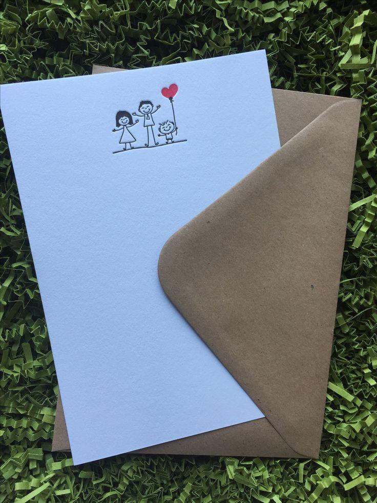 Letterpress family cards