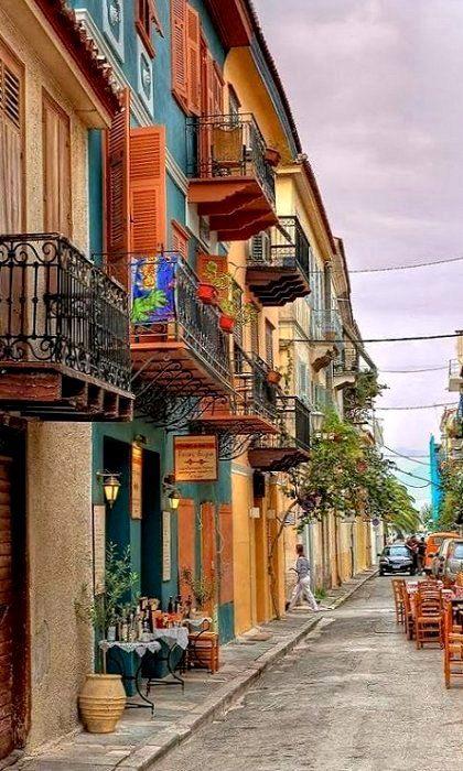 Enchanting street of Nafplio (Peloponnese), Greece