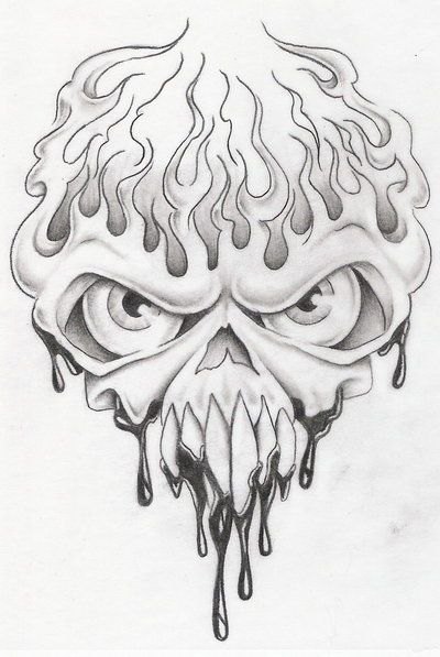 skull in flames 3 by markfellows.deviantart.com on @deviantART