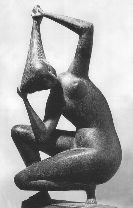 Nereide (1952) Marcello Mascherini (sculptures, plastic arts, visual arts, fine arts)