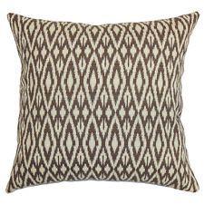 The Pillow Collection Hafoca Ikat Cotton Throw Pillow
