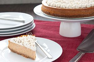Now you can have your cake, and eat it too! Try our pumpkin pie cheesecake for a unique (and delicious) twist on a traditional dessert. @DinnerByDesign