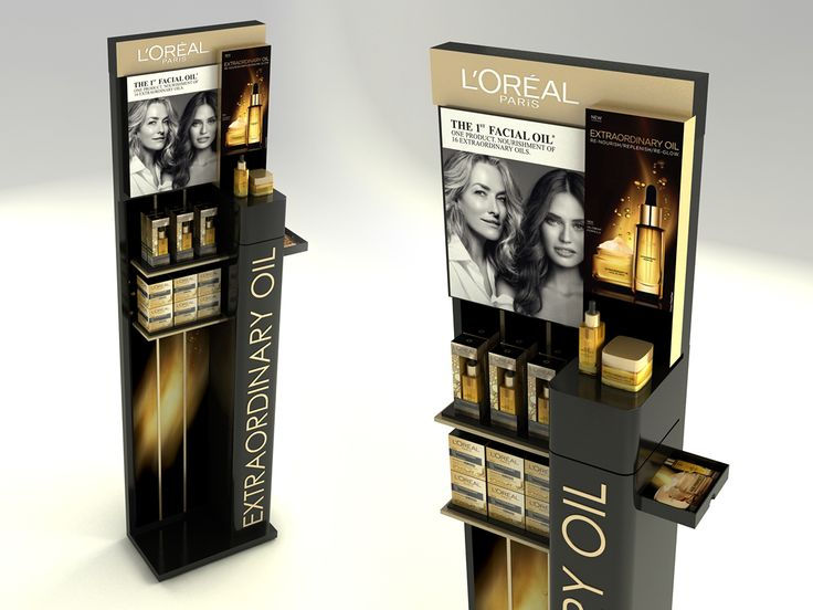 Loreal Dermo Extraordinary Oils Floor Standing Unit