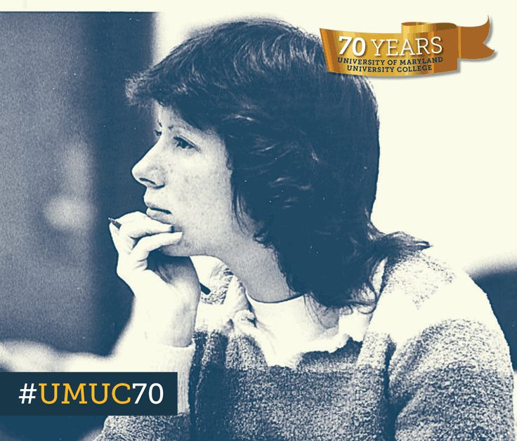 #ThrowbackThursday to this student listening intently class. By the 1980s, more than half of students enrolled at UMUC were women. #umuc70
