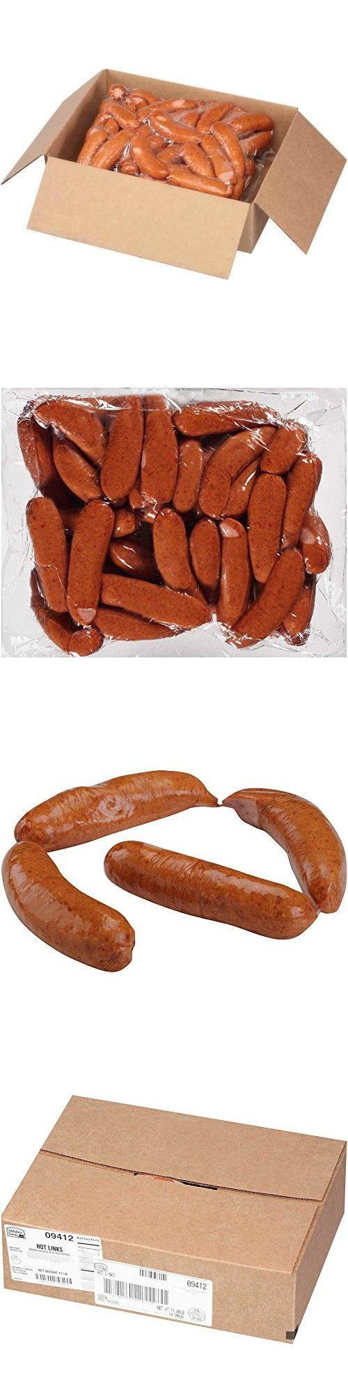 5-6:1 Hillshire Farms Hot Smoked Sausage Links, 11 Pound -- 1 each.