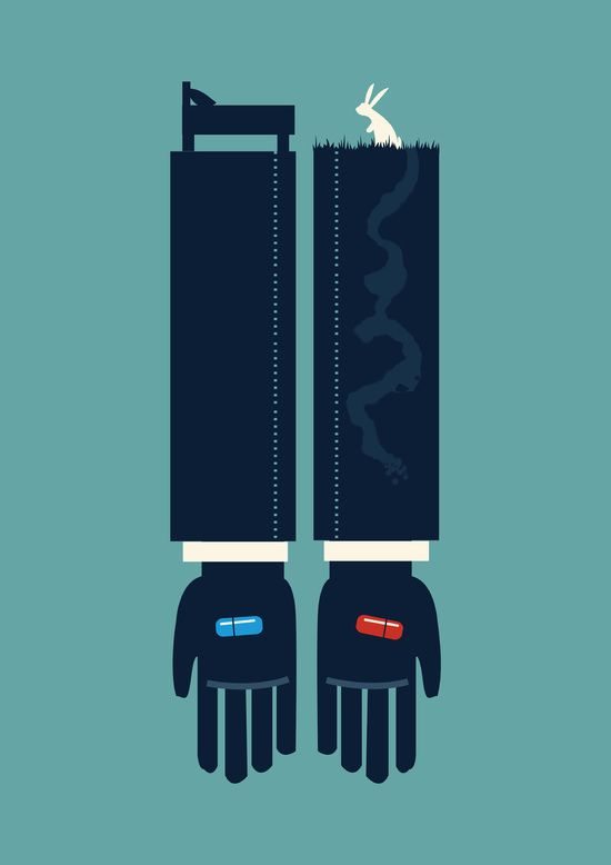 Poster | THE MATRIX THE BLUE PILL von Budi Kwan | more posters at http://moreposter.de