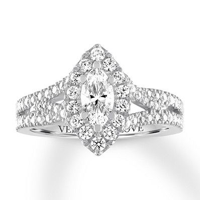 Vera Wang Love Ring 1 Carat Tw Diamonds 14k White Gold Jared Love Ring White Gold Black Diamond Jewelry