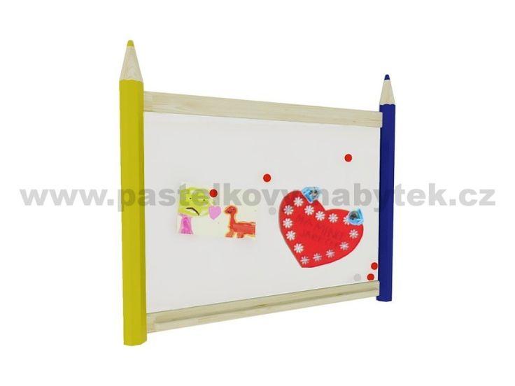 Nástěnná magnetická tabule velká | Dětský dřevěný nábytek - BOB nábytek