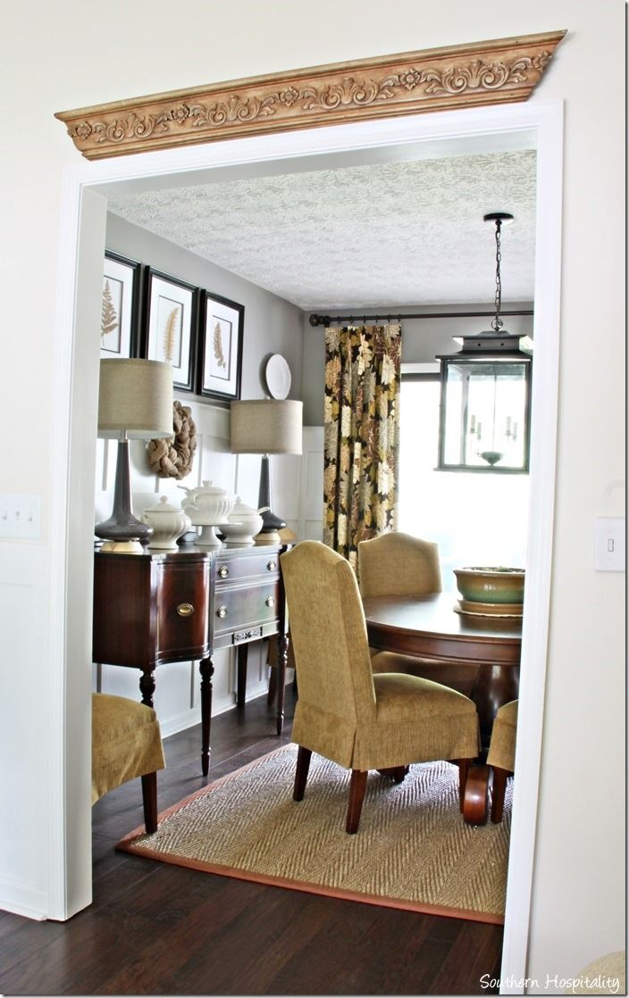 Fancy chairs fancy cardboard chairson home interior design ideas with - How To Decorate Adding Architectural Interest To Walls Love The Old Woodwork Above The Door Frame