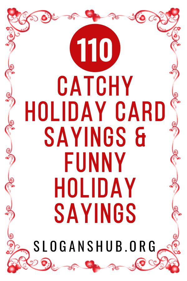 110 Catchy Holiday Card Sayings Funny Holiday Sayings Card