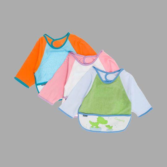 Baberos Bata Con Forro Plástico Multicolor