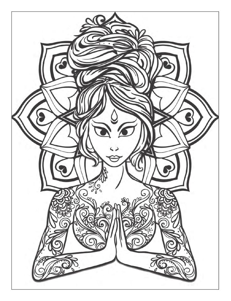 free meditation coloring pages - photo#17