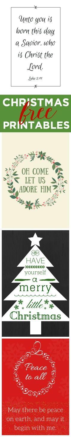 Four free Christmas printables (8x10)
