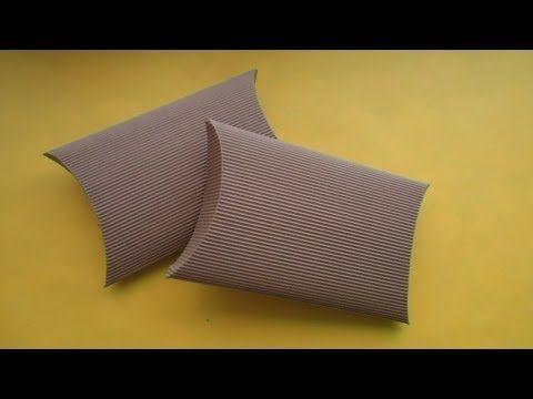 Caja ovalada de cartón corrugado - YouTube