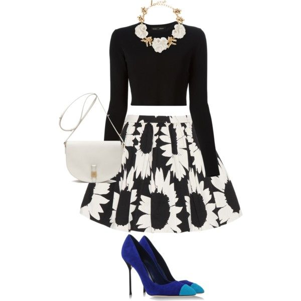 A fashion look from February 2015 featuring Proenza Schouler sweaters, Alice + Olivia mini skirts and Sergio Rossi pumps. Browse and shop related looks.