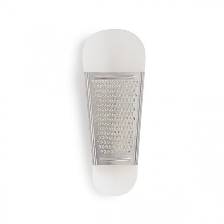 Pinch Cheese Grater by Normann Copenhagen.  Material: Plastic & stainless steel  Size & Weight: Height: 24 cm  Lenght: 7,8 cm Depth: 3,6  Weight: 64 gr  Product Info: Pinch can be separated for easy cleaning and storage. Suitable for dishwasher.
