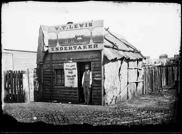 William T. Lewis Undertaker ,Gulgong in 1872.A♥W