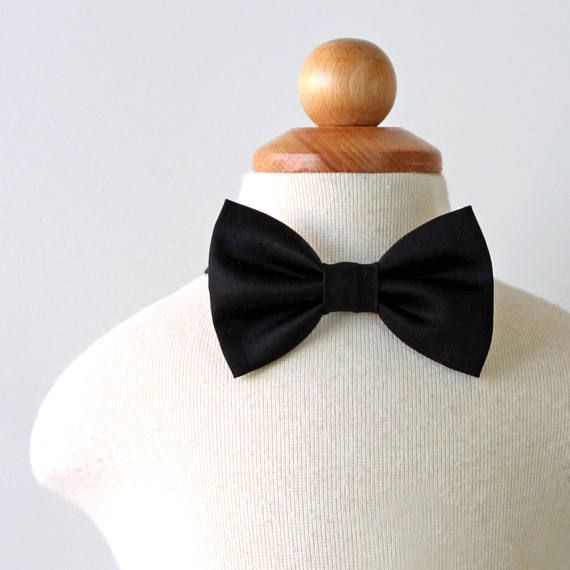 Boys Black Bow Tie, Wedding Bow Tie, Boys Formal Wear, Ring Bearer Outfit, Baby Boy Bow Tie, Toddler Bow Tie Black Tie Wedding Black Bow Tie